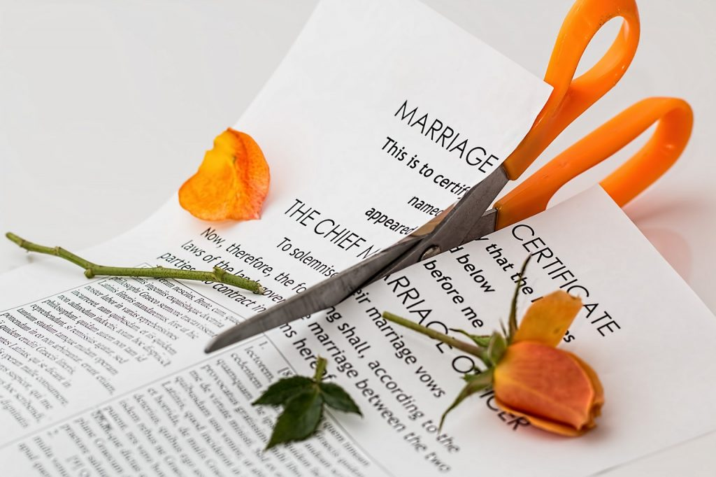 divorce, separation, marriage breakup